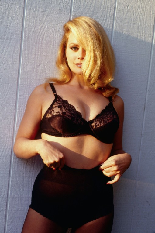 Beverly D'Angelo Posing in Black Undergarments