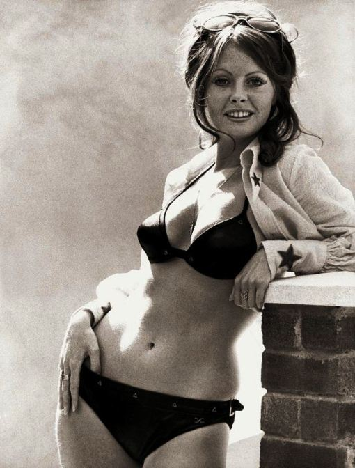 Vicki-Michelle-actress-in-black-bikini