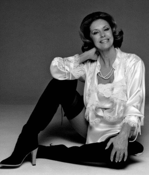American actress and dancer Cyd Charisse shows off her famous legs, circa 1975.