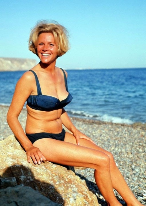Honor Blackman swimwear 3