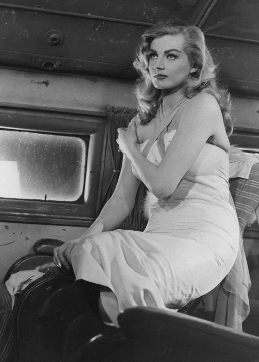 ca. 1956 --- Actress Anita Ekberg in a Scene From the Film  --- Image by © John Springer Collection/CORBIS
