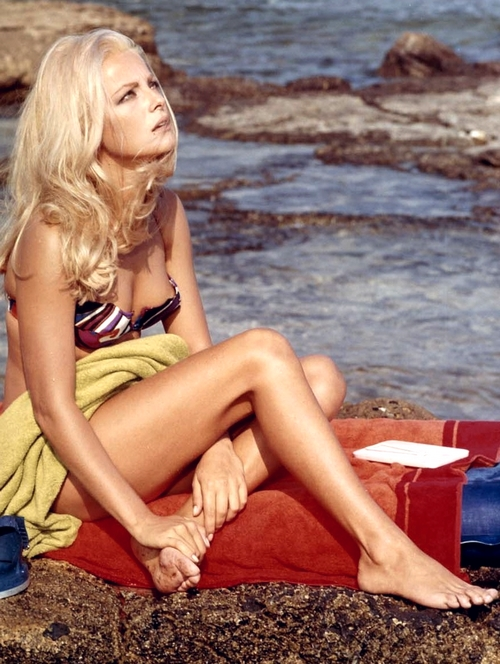 "Sexy Virna Lisi stars in Universal's 1969 romantic comedy """"Better a Widow"" filmed entirely on location in Sicily. Transparency Number 05037-K300"